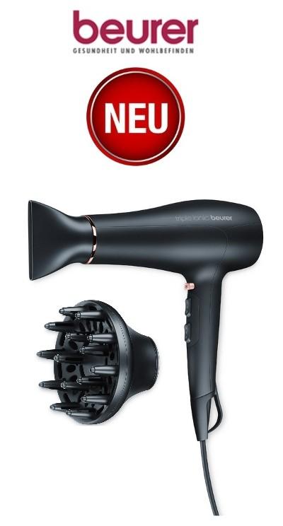 BEURER HC 50 HairCare Haartrockner mit Diffusor und Profidüse HC50 Fön