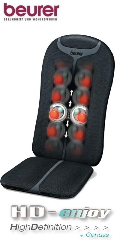 beurer mg 204 shiatsu massage sitzauflage massagesitz massage mg204 ebay. Black Bedroom Furniture Sets. Home Design Ideas