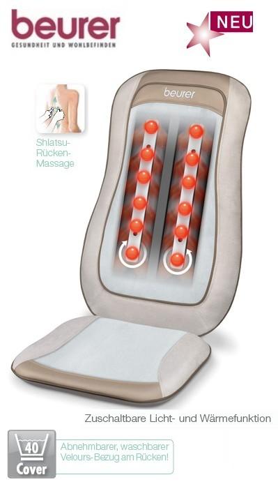 beurer mg 210 shiatsu massage sitzauflage creme hd vital massagesitz mg210 ebay. Black Bedroom Furniture Sets. Home Design Ideas