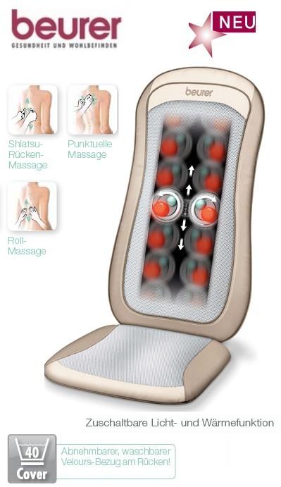 beurer mg 240 shiatsu massage sitzauflage creme hd heat massagesitz mg240 ebay. Black Bedroom Furniture Sets. Home Design Ideas