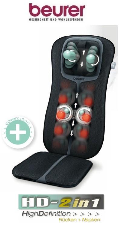beurer mg 254 shiatsu massage sitzauflage black hd 2 in 1 massagesitz mg254 ebay. Black Bedroom Furniture Sets. Home Design Ideas