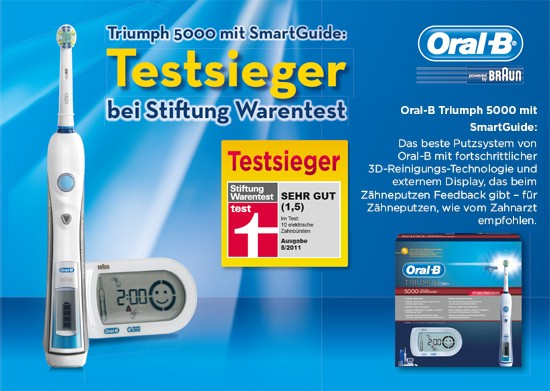 braun oral b triumph 5000 mit smartguide zahnb rste ebay. Black Bedroom Furniture Sets. Home Design Ideas