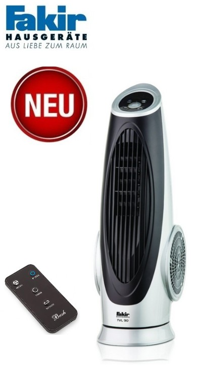 fakir turmventilator tvl 90 mit timer fernbedienung l fter ventilator tvl90. Black Bedroom Furniture Sets. Home Design Ideas
