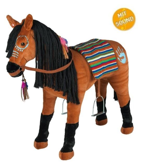 Happy people indianerpferd mit sound pferd reittier