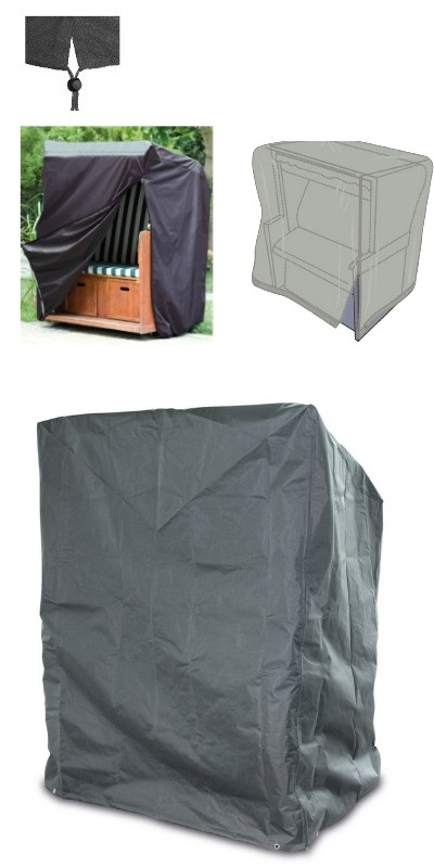 happy people 79334 wehnke abdeckung f garten strandkorb h lle 130x100x170 135cm ebay. Black Bedroom Furniture Sets. Home Design Ideas