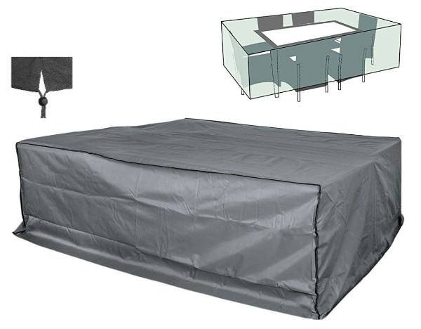 happy people 79342 abdeckung f r lounge m belset gartenm bel h lle 240x200x95cm ebay. Black Bedroom Furniture Sets. Home Design Ideas