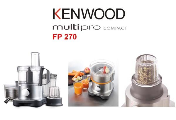 kenwood multipro fp 270 kompakt k chenmaschine fp270 ebay. Black Bedroom Furniture Sets. Home Design Ideas