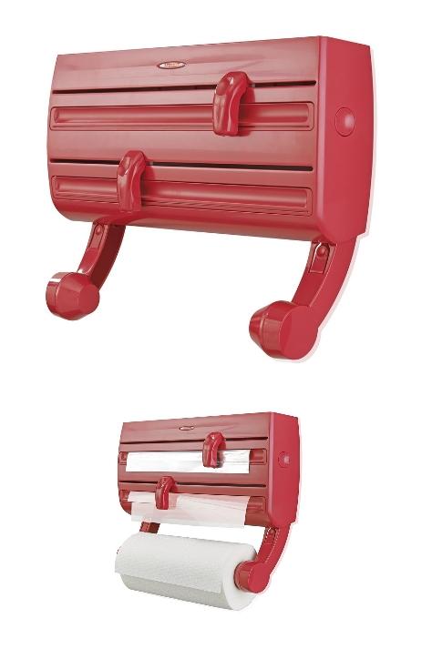 leifheit 25776 wandrollenhalter parat f2 rollenhalter folienhalter rot. Black Bedroom Furniture Sets. Home Design Ideas
