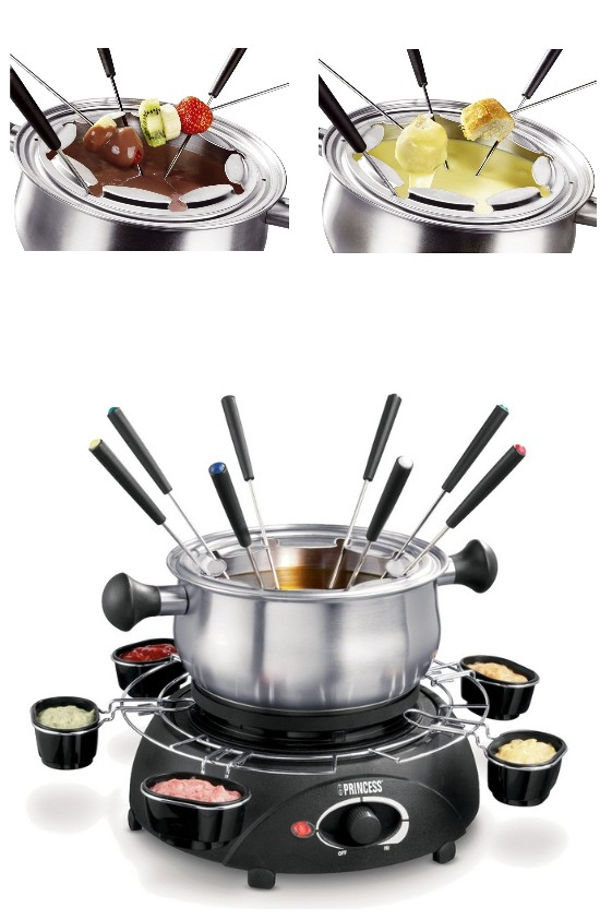 petra princess family fondue set 6 sch lchen f 8 personen fondue set 1 0 liter ebay. Black Bedroom Furniture Sets. Home Design Ideas