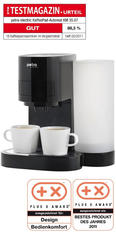 petra km kaffeepadautomat kaffeemaschine ebay. Black Bedroom Furniture Sets. Home Design Ideas