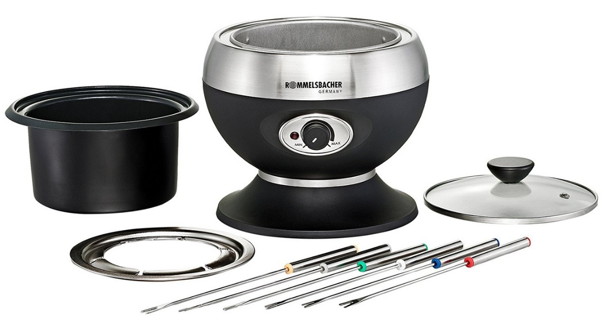rommelsbacher f 350 elektro fondue set f 6 personen fonduetopf fondue set f350. Black Bedroom Furniture Sets. Home Design Ideas