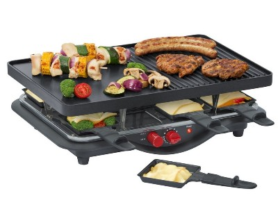 steba rc 28 gu raclette raclettegrill 8 pfannen raclette tischgrill grill rc28. Black Bedroom Furniture Sets. Home Design Ideas
