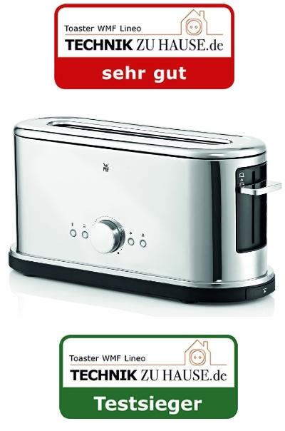 wmf toaster lineo shine edition 0414060022 langschlitz mit br tchenaufsatz ebay. Black Bedroom Furniture Sets. Home Design Ideas