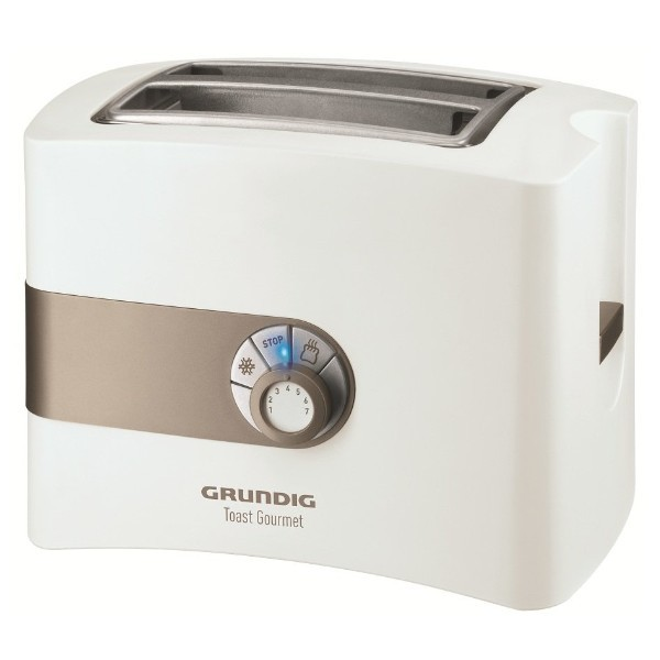 Grundig TA 4260 2-Schlitz Toaster mit Brötchenaufsatz