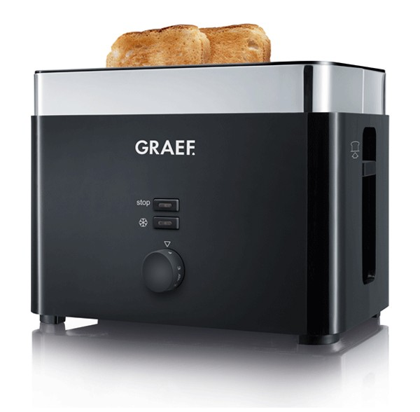 Graef Toaster TO 62 schwarz